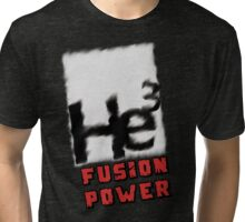 Mars 2030 - Helium 3 Fusion Power Tri-blend T-Shirt