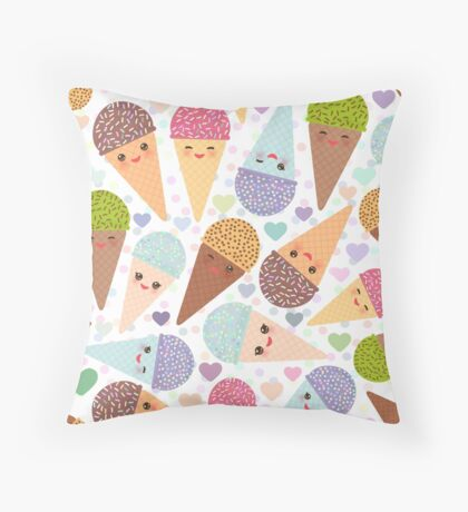 Sweet Corn Ice Cream Throw Pillow