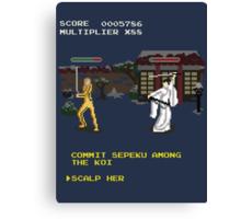 Kill Bill Arcade Game: Boss Battle Canvas Print