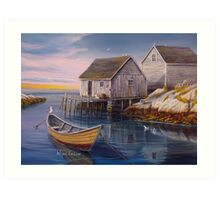 Peggys Cove Sunset Art Print