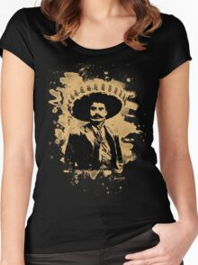 Emiliano Zapata - bleached natural Women's Fitted Scoop T-Shirt