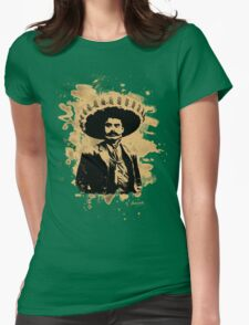 Emiliano Zapata - bleached natural Womens Fitted T-Shirt