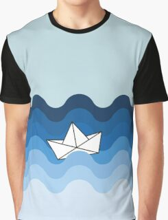 Paper Boat Graphic T-Shirt