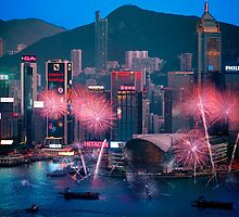 Hong Kong Chinese New Year Fireworks by MichaelKe