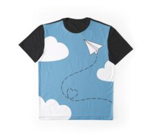 Paper Plane Graphic T-Shirt