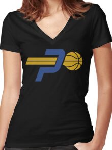pacers Women's Fitted V-Neck T-Shirt