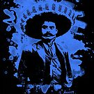 Emiliano Zapata - bleached blue by Bela-Manson