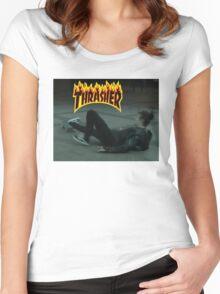 Matty Healy - Thrasher Women's Fitted Scoop T-Shirt