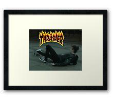 Matty Healy - Thrasher Framed Print