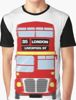 London Liverpool Street Bus Graphic T-Shirt
