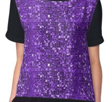 Sparkling Purple Mosaic Pattern Chiffon Top
