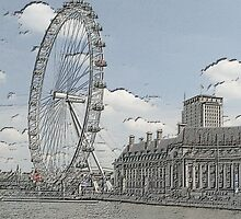 London Eye by Allen Lucas