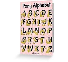 Pony Alphabet, Pink Greeting Card