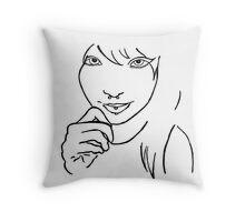 Pierced Girl Throw Pillow