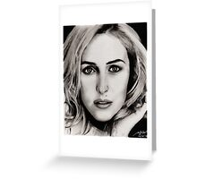 Gillian Anderson Oil Greeting Card