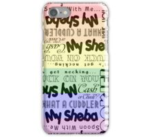 1920's Sexy Slang [rainbow] iPhone Case/Skin