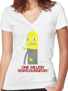 Lemongrab - One million years dungeon Women's Fitted V-Neck T-Shirt