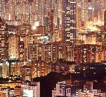 Hong Kong City Density by MichaelKe