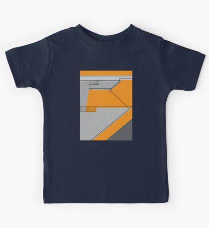 Modernist Orange Staircase Kids Tee