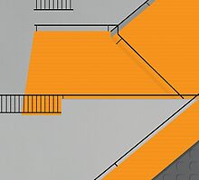 Modernist Orange Staircase by modernistdesign