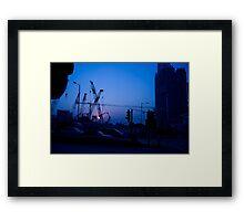 Hong Kong Blue Sunset Framed Print
