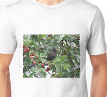Vogel im Kirschbaum Unisex T-Shirt