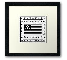 FLOSSTRADAMUS FLAG 2 Framed Print