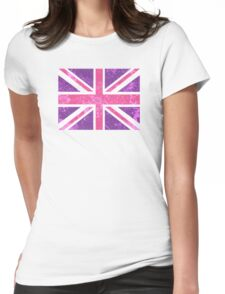 Pink and Purple Union Jack Womens Fitted T-Shirt