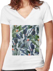 Optical Zen #redbubble #lifestyle Women's Fitted V-Neck T-Shirt