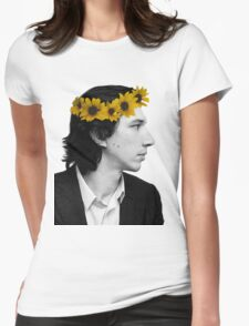 Adam Driver and Sunflower Crown (Color) Womens Fitted T-Shirt