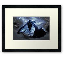 Skyrim Alduin  Framed Print