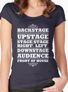Theatre Geeks Design Women's Fitted Scoop T-Shirt