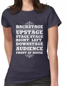 Theatre Geeks Design Womens Fitted T-Shirt