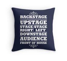 Theatre Geeks Design Throw Pillow