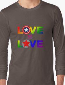Love is Love - Rainbow & Metal Variant Long Sleeve T-Shirt