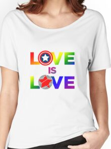 Love is Love - Rainbow & Metal Variant Women's Relaxed Fit T-Shirt