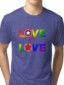 Love is Love - Rainbow & Metal Variant Tri-blend T-Shirt
