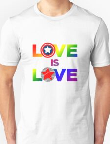 Love is Love - Rainbow & Metal Variant Unisex T-Shirt