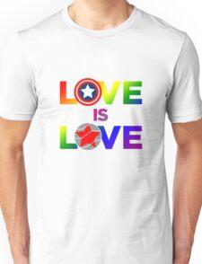 Love is Love - Rainbow & Metal Variant Unisex T-Shirt