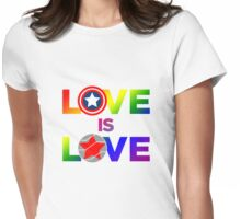 Love is Love - Rainbow & Metal Variant Womens Fitted T-Shirt