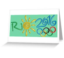 Rio 2016 Greeting Card