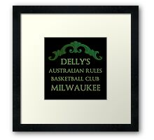 Delly's Aussie Rules Milwaukee Framed Print