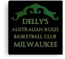 Delly's Aussie Rules Milwaukee Canvas Print