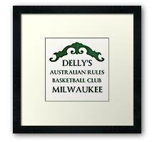 Delly's Austrailian Rules Milwaukee Framed Print