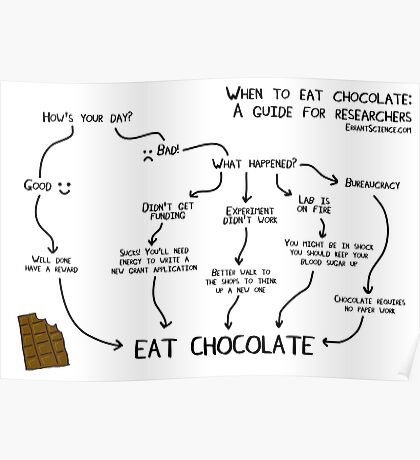 When to eat chocolate a guide for researchers Poster