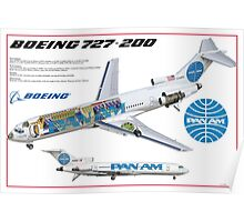 Airlines Collection B727-200 Poster