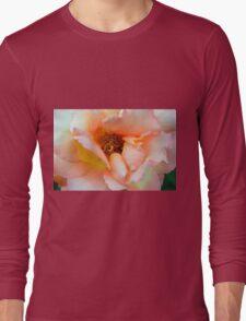 Close up on light pale pink rose petals. Long Sleeve T-Shirt