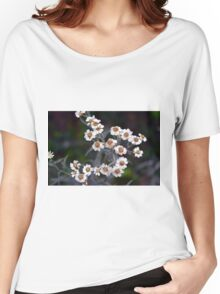 Small white flowers in the garden. Women's Relaxed Fit T-Shirt