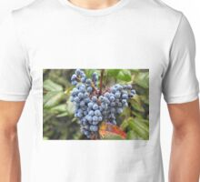 Detail of wine grapes. Unisex T-Shirt
