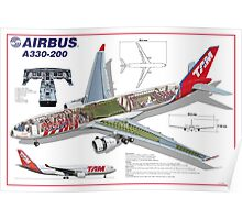 Airlines Collection Airbus A330-200 TAM Poster